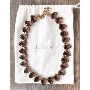 J.Crew pink purple gemstone necklace EUC